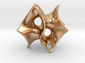 Batwing Surface Pendant in Polished Bronze: Small