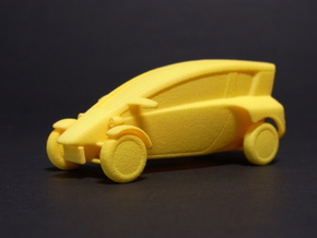 1:43 Fp-commuter in Yellow Processed Versatile Plastic