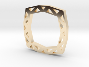 f110 grid ring gmtrx in 14K Yellow Gold
