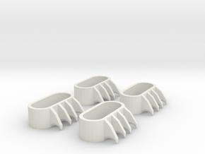 1:6 scale Claws in White Natural Versatile Plastic