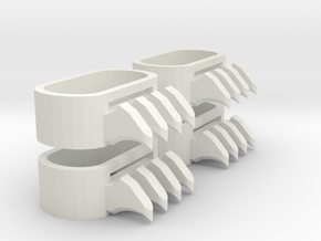 1:6 Scale Ninja Claws 2 pairs in White Natural Versatile Plastic