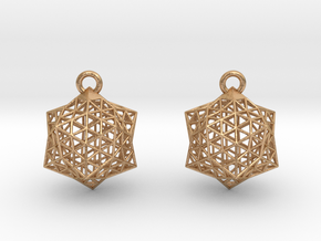Icoearrings in Natural Bronze