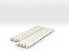 diagonal_beams_top_section in White Natural Versatile Plastic