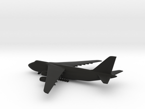 Antonov An-124 Ruslan in Black Natural Versatile Plastic: 1:700