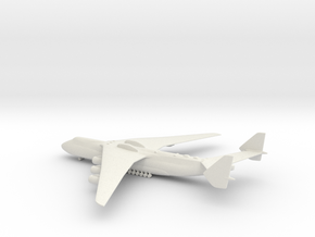 Antonov An-225 Mriya in White Natural Versatile Plastic: 1:500