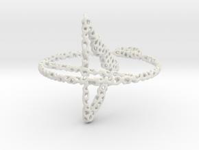 voronoi yoga earring pendant in White Natural Versatile Plastic