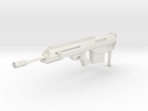 1:6 Leader .50 Marksman Rifle in White Natural Versatile Plastic