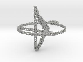 voronoi yoga earring pendant - downward facing dog in Aluminum