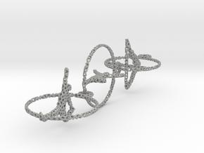 Voronoi three yoga earrings pendant in Aluminum