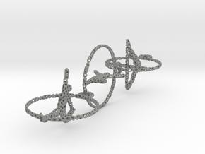 Voronoi three yoga earrings pendant in Gray Professional Plastic