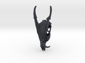 Muntjac Skull Pendant in Black PA12