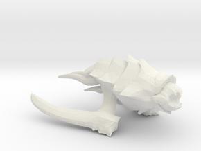 Kraken Beastship - Concept D in White Natural Versatile Plastic