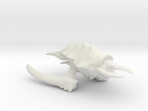Kraken Beastship - Concept C in White Natural Versatile Plastic