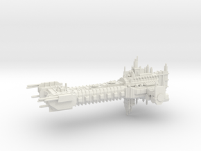 Battle Barge - Epic Class  in White Natural Versatile Plastic