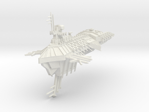 Despoiler Class Capital Ship - With Upgraded Hange in White Natural Versatile Plastic