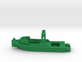 MKII Bridge Erection Boat (Waterline version) in Green Processed Versatile Plastic: 1:144