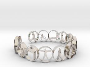 Yoga bangle 54 mm  in Rhodium Plated Brass