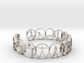 Yoga bangle 57.2 mm in Platinum