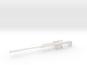 1:12 AS50 Sniper Rifle in White Natural Versatile Plastic: 1:12