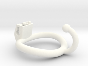 Cherry Keeper Ring - 51x42mm (~46.6mm) Ball Hook in White Processed Versatile Plastic