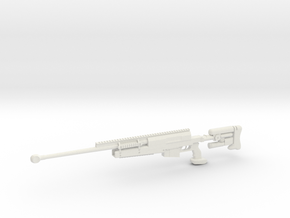 1:12 PGM 338 Sniper Rifle in White Natural Versatile Plastic: 1:12
