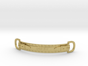 Choker Strap in Natural Brass