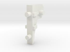 Razorhog Turret Arm Mount in White Natural Versatile Plastic