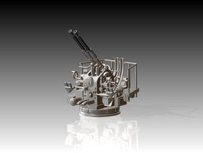 Twin Bofors Elevated 1/120 in Smooth Fine Detail Plastic