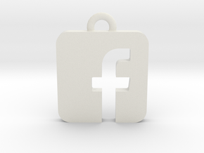 Facebook logo all materials necklace keychain gift in White Natural Versatile Plastic