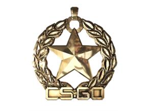 CS:GO Gold Nova 1 Pendant in Polished Brass