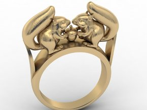 Squirrel Ring in White Strong & Flexible Polished