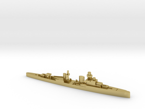 Luigi Cadorna light cruiser 1:2400 WW2 in Natural Brass