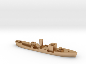 HMS Gloxinia corvette 1:2400 WW2 in Natural Bronze