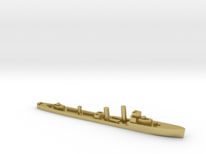 HMS Wessex 1:1800 WW2 naval destroyer in Natural Brass
