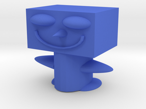 Crazy Dude in Blue Processed Versatile Plastic