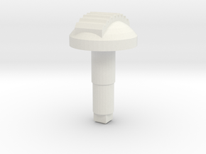 STEM_2WAY_DOME_7_TOOTH in White Natural Versatile Plastic