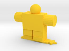 Robot Guy in Yellow Processed Versatile Plastic