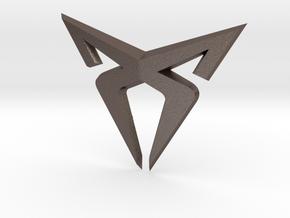 Cupra Logo Front FLAT in Polished Bronzed-Silver Steel