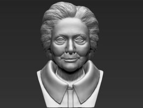 Hillary Clinton bust in White Natural Versatile Plastic