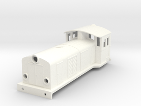 Swedish SJ electric locomotive type Ua - H0-scale in White Processed Versatile Plastic