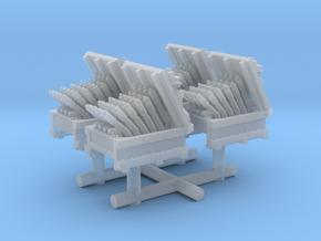 1/300 USN Hedgehog Thrower set x4 in Smooth Fine Detail Plastic