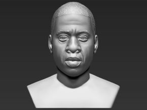 Jay-Z bust in White Natural Versatile Plastic
