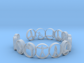 Yoga bangle with 14 poses 63.7 mm in Smooth Fine Detail Plastic
