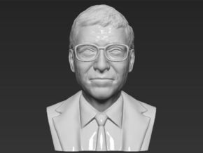 Bill Gates bust in White Natural Versatile Plastic