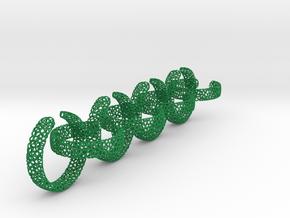 voronoi yoga ring chain 22.92 mm in Green Processed Versatile Plastic