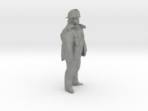 O Scale Fireman in Gray PA12