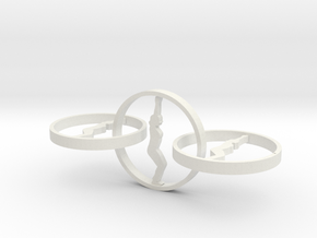 yoga jewelry - earring  in White Natural Versatile Plastic