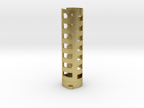 Wonderful Sabers Low Ground battery holder part 1  in Natural Brass