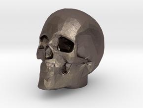 NEW!!! Skull - Bicycle Presta Valve Cap in Polished Bronzed-Silver Steel