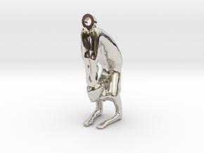yoga jewelry - pendant earring . Vrischikasana in Platinum